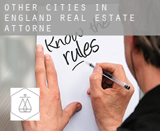 Other cities in England  real estate attorney